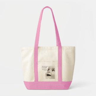Le bébé sourit rose de sac de fourre-tout