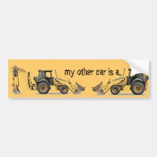 Le bêcheur d'excavatrice de construction le plus autocollant de voiture