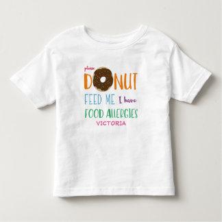 Le beignet m'alimentent que je fais personnaliser t-shirt pour les tous petits