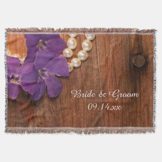 Le bigorneau pourpre perle le mariage campagnard couvre pied de lit