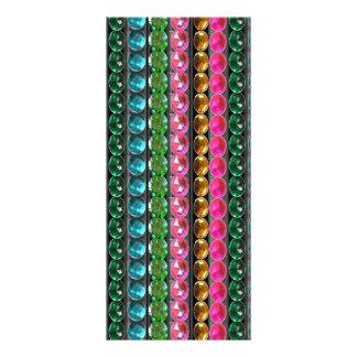 Le bijou perle des pierres de cristal ÉPOUSANT Modèle De Carte Double