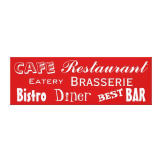 Le Bistro de wagon-restaurant de restaurant de Toiles