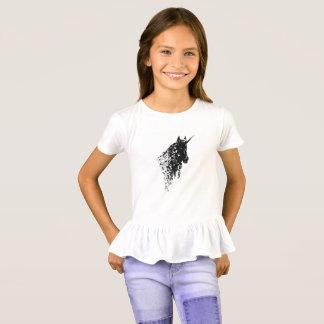 Le blanc de conception de licorne badine le t-shirt