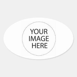 Le blanc de modèle   ajoutent votre texte d'image sticker ovale