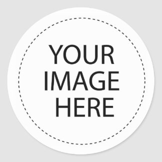 Le blanc de modèle   ajoutent votre texte d'image sticker rond