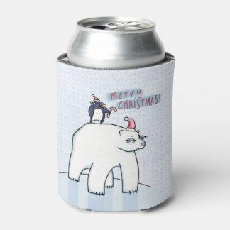 Le blanc de Noël d'ours blanc peut glacière