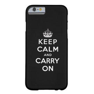 Le blanc noir gardent le calme et continuent le ca coque barely there iPhone 6