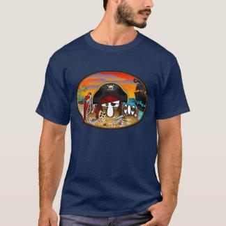 Le bleu de Kilroy de pirate badine le T-shirt