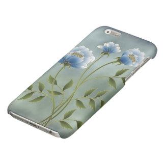 Le bleu fleurit la caisse brillante de l'iPhone 6