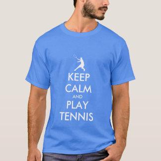 Le bleu gardent le tee - shirt de tennis de calme t-shirt