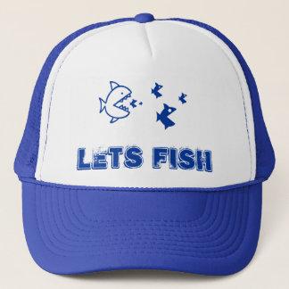 Le bleu laisse des poissons casquette