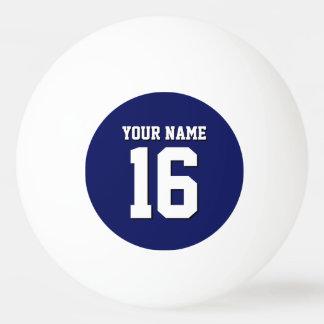 Le bleu marine folâtre l'équipe Jersey du Jersey Balle Tennis De Table