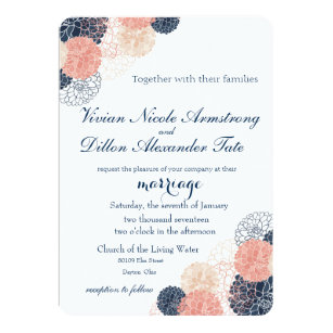 invitations faire part mariage de bleu marine personnalis s. Black Bedroom Furniture Sets. Home Design Ideas
