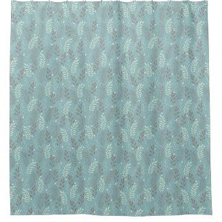 Le bleu moderne s'embranche rideau en douche