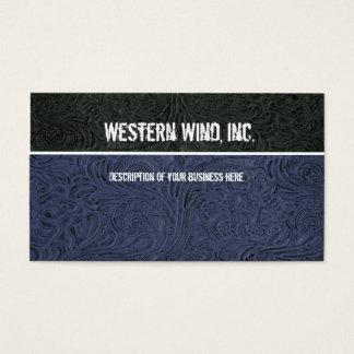 Le bleu, noircissent le carte de visite en cuir