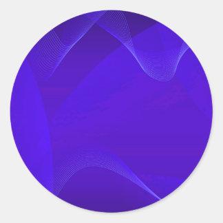 Le bleu ondule I Adhésifs Ronds