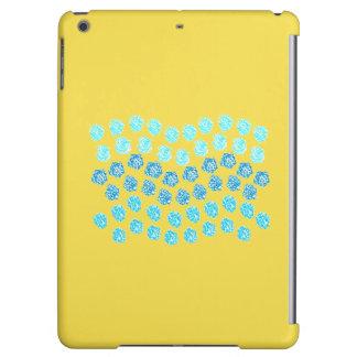 Le bleu ondule la caisse brillante d'air d'iPad