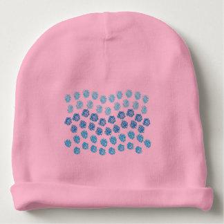 Le bleu ondule la calotte de coton de bébé bonnet pour bébé