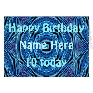 Le bleu ondule la carte d'anniversaire de