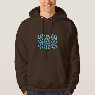 Le bleu ondule le sweatshirt à capuchon des hommes