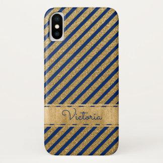 Le bleu, or a barré la caisse de l'iPhone X de Coque iPhone X