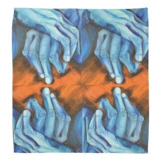 Le bleu remet la bandanna de concepteur d'art bandana