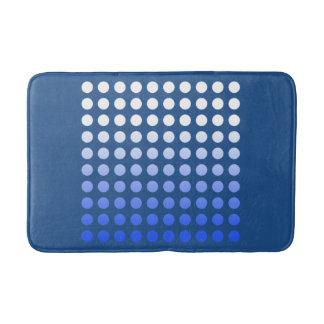 Le bleu se fanent tapis de bain de motif de point
