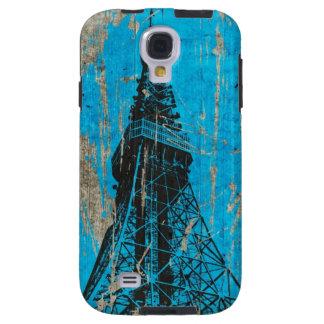 le bois bleu de Tour Eiffel donne à l'art Coque Galaxy S4