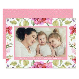 Le bonbon fleurit le carte photo du jour de mère