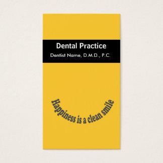 Le bonheur de rendez-vous est un dentiste propre cartes de visite
