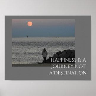 Le bonheur est un voyage -- Copie d'art Poster