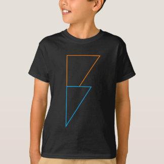 Le boulon de foudre badine le T-shirt