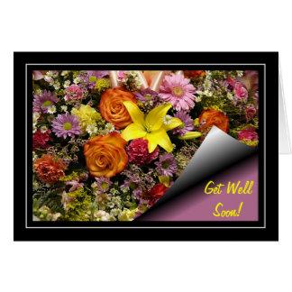 Le bouquet de fleur obtiennent la carte bonne