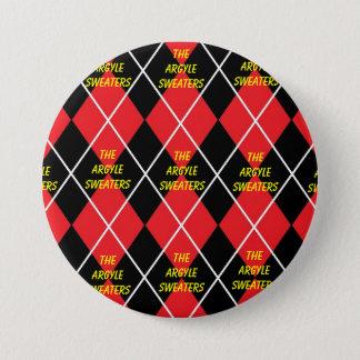 Le bouton à motifs de losanges de fan de chandails badge rond 7,6 cm