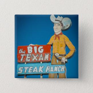 Le bouton avec le cowboy au néon se connectent badge carré 5 cm