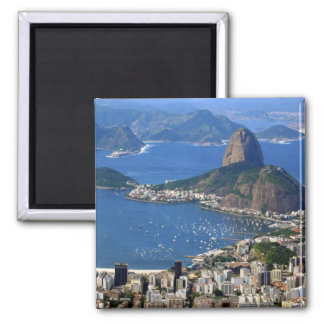 Le Brésil : Paysage de Rio de Janeiro Magnet Carré