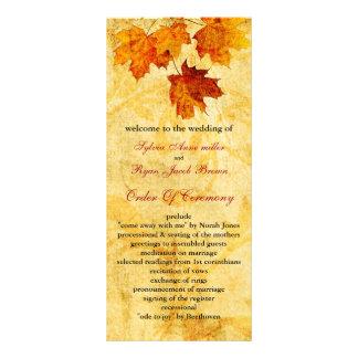 le brun d'automne de chute laisse le programme de double carte personnalisée