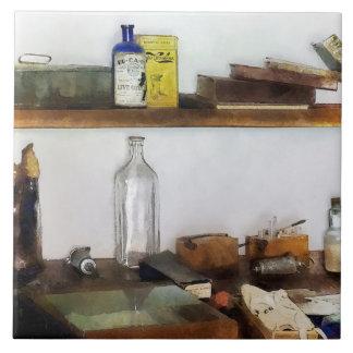 Le bureau du vétérinaire du 19ème siècle carreau