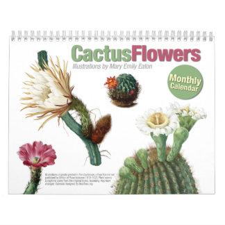 Le cactus fleurit le calendrier
