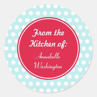 Le cadeau de cuisson de cuisine d'Aqua étiquette Sticker Rond