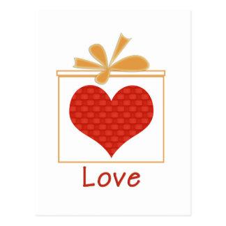 Le cadeau de l'amour cartes postales