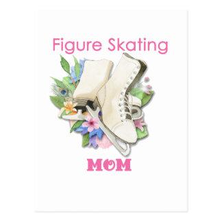Le cadeau de maman de patinage artistique carte postale