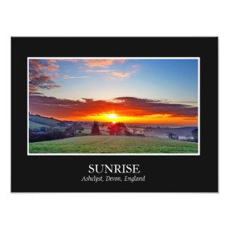 Le cadre de photographie de lever de soleil