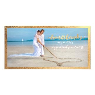 Le cadre d'or de PixDezines/vous remercient photo Cartes Avec Photo