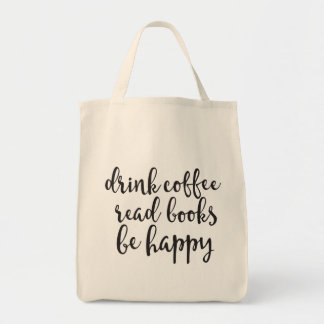 Le café de boissons a lu des livres soit sac