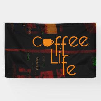 Le café est la vie banderoles