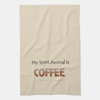 Le café est ma serviette de cuisine animale