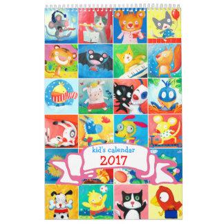 le calendrier 2017 de l'enfant