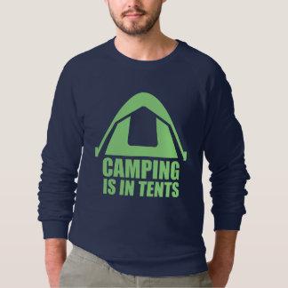 Le camping est dans des tentes sweatshirt
