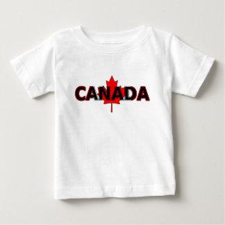 Le Canada avec le T-shirt de nourrisson de feuille
